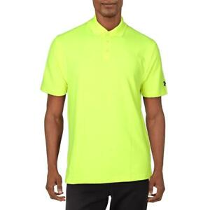 Under Armour Mens Yellow Loose Fit Golf Performance Polo Athletic M BHFO 8471