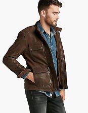LUCKY BRAND Mens Manx THE ACE Leather Biker Patina Barnstormer Jacket Size Large