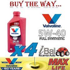 OLIO MOTORE MAX LIFE 5W-40 ACEA A3/B4 FULL SYNTHETIC 4 LT - VALVOLINE VA872363