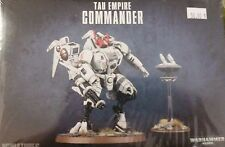Warhammer 40K TAU EMPIRE COMMANDER Battlesuit & Drone, New