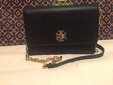 NWT Tory Burch Mercer Chain Wallet, Cross-Body, Clutch, Leather, (Black)
