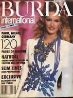 VTG  Craft Magazine: BURDA International Spring/Summer 1993 Paris Milan Germany