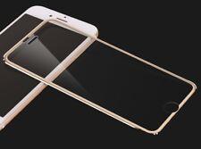 iPhone 7 gold rim full cover tempered glass screen protector 3d 9h titanium