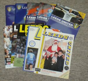 10 Leeds United Home Football Programmes – 1980-2010 – All Listed