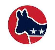 Magnetic Bumper Sticker - Democrat Donkey - Round Magnet