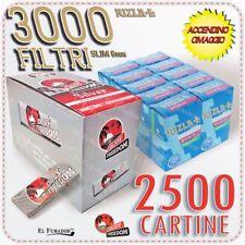 2500 Cartine ENJOY FREEDOM SILVER CORTE 50 Libretti + 3000 Filtri RIZLA SLIM 6mm