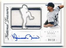 2015 National Treasures MARIANO RIVERA Player's Choice Die-Cut Relic Auto #04/10