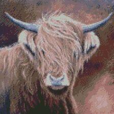 Cross Stitch Kit Highland Vache chérie