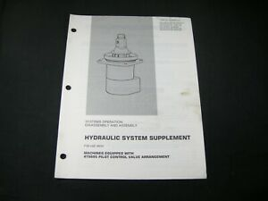 CAT Caterpillar Excavator Hydraulic System Disassembly Assembly Service Manual