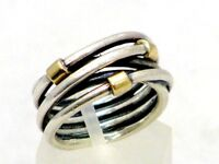Pandora Ring Bicolor 925 Sterling Silber und 14K 585 Gold