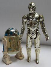 Vintage Star Wars 1977- R2-D2 solid dome & C-3PO Action Figure lot Complete!