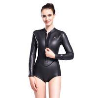 Womens Neoprene Wetsuit Smooth Skin One Piece Bikini Surfing Snorkeling Wet Suit