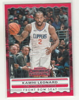 KAWHI LEONARD 2019-20 Panini Contenders Front Row Seat #8 Clippers Mint