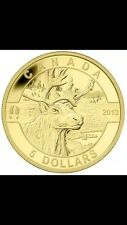 2013 Fine Gold Coin 1/10 Oz Caribou  RCM Only 4000