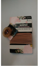 Scunci - Color Matching 8 Pc Blonde Hair Ties 32516-A