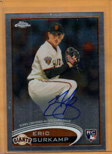 2012 TOPPS CHROME BASEBALL ERIC SURKAMP AUTO ROOKIE CARD #181