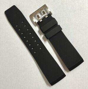 Original Hamilton BelowZero H785150 / H786160 Black Rubber Watch Band Strap