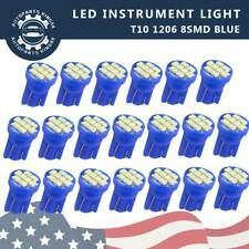 20X Ice Blue T10 8-SMD LED Car Instrument Panel Dash Interior Light 158 2825 W5W