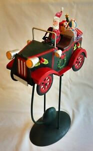 Premier  Vintage Tin Santa Car With Counter Weight  . Approx 32 CM.  Brand New.
