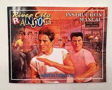 River City Ransom - NES Nintendo - Reproduction Manual Instruction Booklet - US