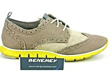 Cole Haan Grand Os Zerogrand Youth Shoes Oxford Suede Wingtip Brown Gray Volt 6B
