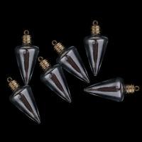 6PCS Glass Wishing Bottle Necklace Pendant Vial Charms Wedding Locket Bottle