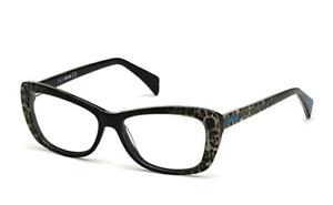 New JUST CAVALLI Reading Glasses JC0602 005 53-14 Black Leopard Frame Magnifiers
