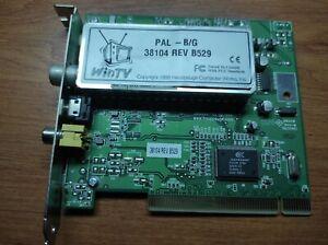 Hauppauge WinTV PAL - B/G 38104 REV B529 PCI TV TUNER/CAPTURE CARD