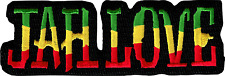 43036 Jah Love Rasta Reggae Rastafarian Cutout Island Embroidered Iron On Patch