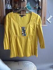 Boden mustard 3/4 sleeve blouse UK 10