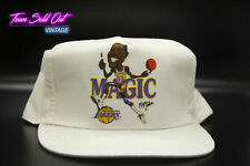 NEW RARE Vintage 80s Los Angeles Lakers MAGIC JOHNSON Snap Back Hat NBA Kobe