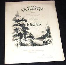 la violette mélodie partition chant piano 1865 D. Magnus