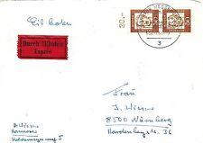 Ungeprüfte Briefmarken aus der BRD (1960-1969) mit Mehrfachfrankatur