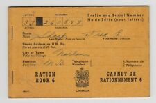 Canada Ww Ii Ration Book 6 Vintage Norton New Brunswick Wwii