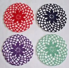 VINTAGE STYLE 1940's FLOWER SNOODS 13 COLOURS AVAILABLE - HAND CROCHETED