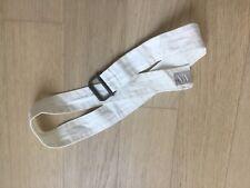 AX Armani Exchange Men Buckle Belt Size MEDIUM White cotton