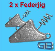 2 x Federjig Schraub Jigkopf 10g - 50g Jighaken für Gummifische, Spiral Jig.