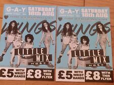 LITTLE MIX-GET WINGS DNA G-A-Y PROMO HEAVEN FLYER X 2  AUG 2012 - GLORY DAYS