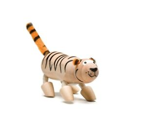 ANAMALZ TI2010: Tiger, Collectable Wooden Toy NEW