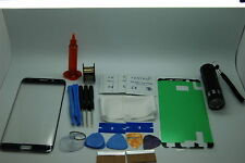 Samsung S6 Edge Plus Blu Kit di Riparazione Vetro Schermo Frontale, Colla