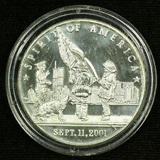 1 Troy oz .999 Silver Round. Spirit Of America September-11-2001