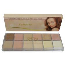 Saffron Cream Foundation Cover and Conceal Palette Contour Kit
