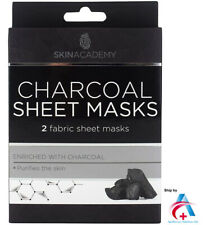 SKIN ACADEMY CHARCOAL GEL UNISEX 4 TREATMENTS EYE PATCHES BRIGHTENS SKIN