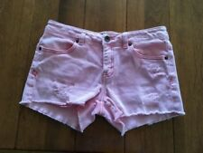 Lucky Brand Riley Cut off  Shorts Distressed Pink Size 14