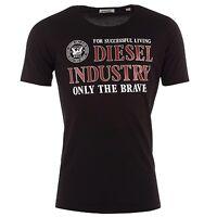 Diesel Men's T-Nola Industry Slim Fit Crew Neck T Shirt Black