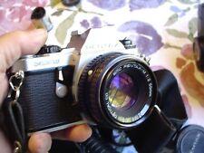 Pentax ME Super 35mm Camera bundle w Lenses, Flash, Winder, Handles, Case +++
