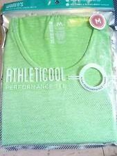 Women's Size Medium Athleticool Performance Short Sleeve Crew Neck Tee green
