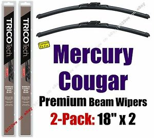Wipers 2pk Premium Wiper Blades - fit 1971-1973 1983-1988 Mercury Cougar 19180x2