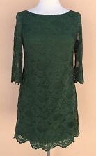 HandMade Evening Cocktail Lace Mini Dress Petite Green PS