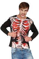 Hommes Squelette Zombie 3D imprimé Halloween Chemise Costume Déguisement